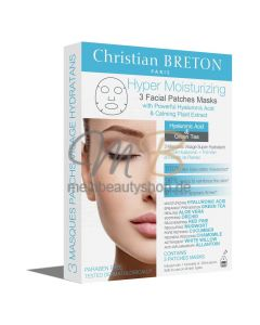 CHRISTIAN BRETON Hyper Moisturizing Facial Patch Mask +, 3 x 20 ml